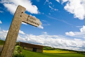 The Cotswolds, Oxfordshire - Public Bridleway Signpost