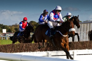 Oxford Photography - Stratford Races - Horses taking the jump