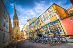 The Bike Zone shop in Oxford City Centre with Zappi's Bike Cafe upstairs