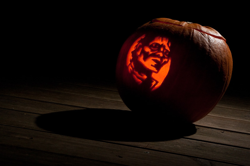 My Halloween Pumpkin Jack-o-Lantern is a Michael Jackson Pumpin Carving Template Jacko Lantern